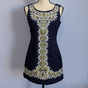 Lilly Pulitzer Navy Embroidered Sleeveless Dress 4